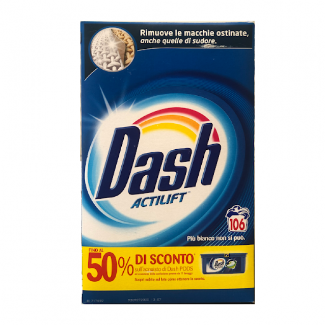 Dash Actilift detergent pulbere 106 sp 6890g