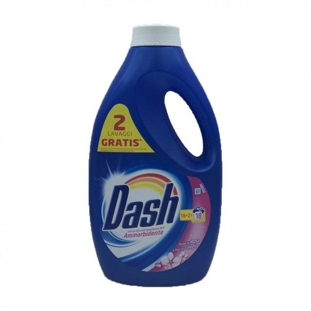 Dash detergent lichid trandafir flori de cires 18 sp 1175 ml