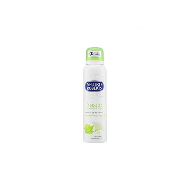 Antiperspirant spray ceai verde si lime Neutro Roberts 125 ml