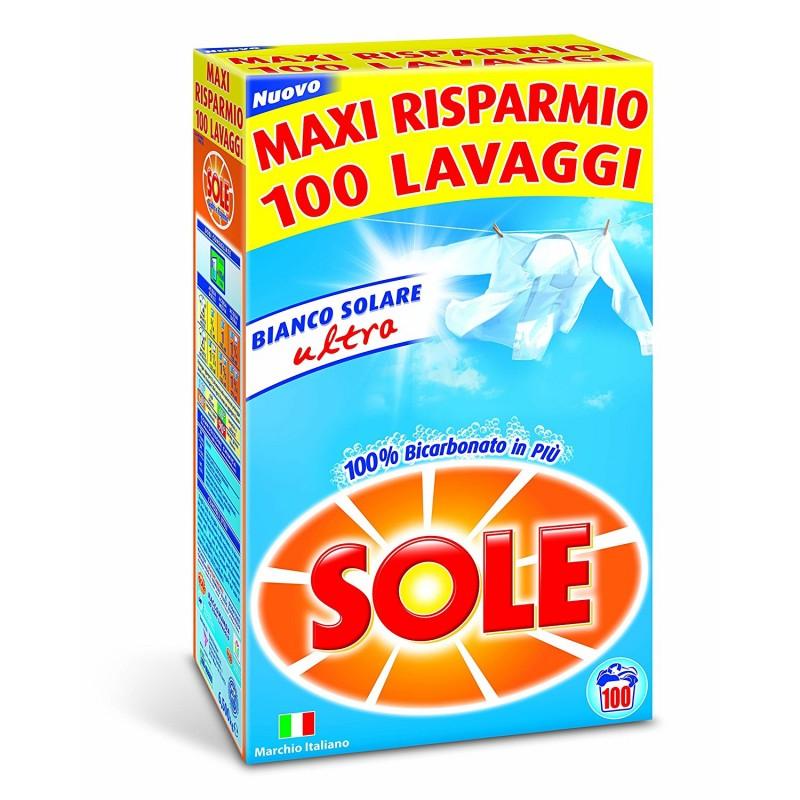 Detergent pulbere cu bicarbonat Sole 100 spalari