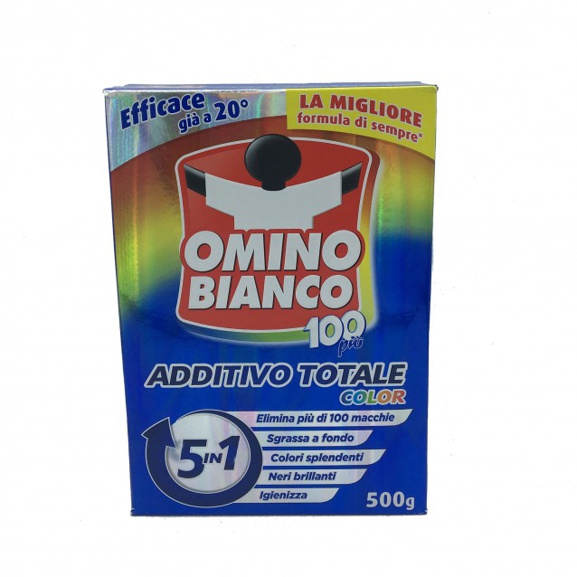 Omino bianco aditiv pete 5 in 1 haine colorate 500g