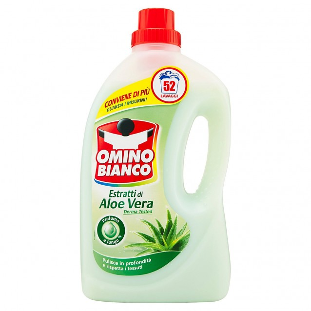 Detergent lichid aloe OMINO BIANCO 52 sp