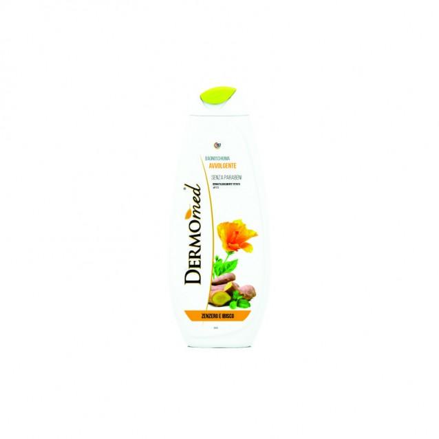 Dermomed spuma baie cu ghimbir si hibiscus500 ml