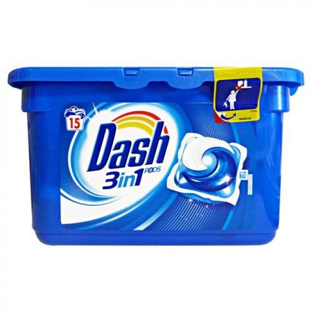 Detergent pernute 3 in 1 Dash clasic 15 buc