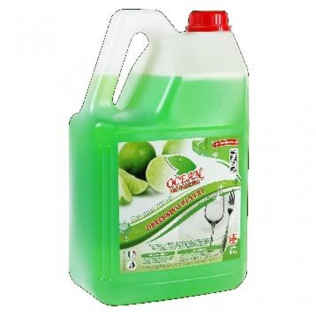 Detergent vase cu lamaie verde Ocean profesional 5 L
