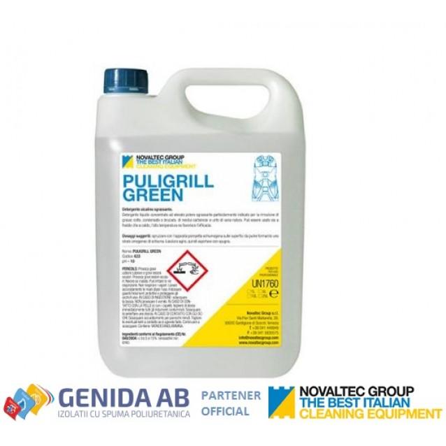 Detergent degresant alcalin pentru cuptoare Novaltec -  Puligrill Green 10 L