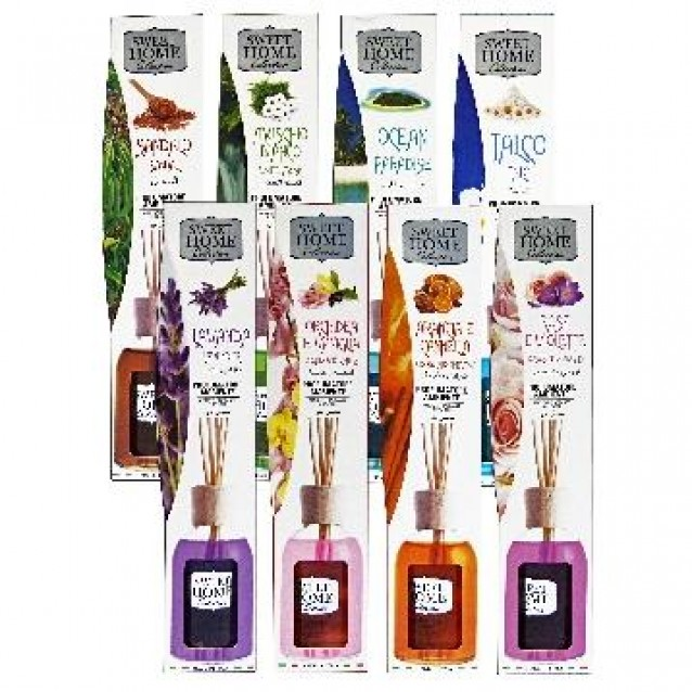 Betisoare parfumate pentru ambient arome diverse ( talc, trandafir si violete, flori de rodie, citrice, lemn de santal, ocean) 100 ml