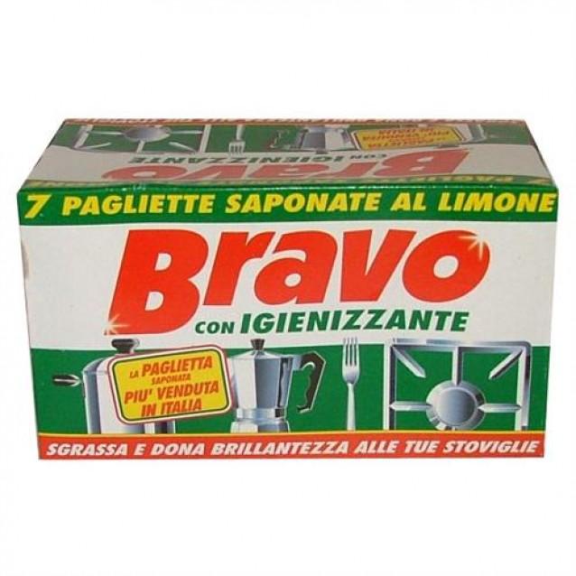 Bravo bureti cu detergent si parfum de lamaie pentru vase 7 buc