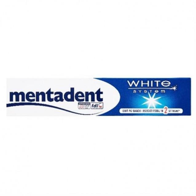Pasta de dinti Mentadent white system 75 ml