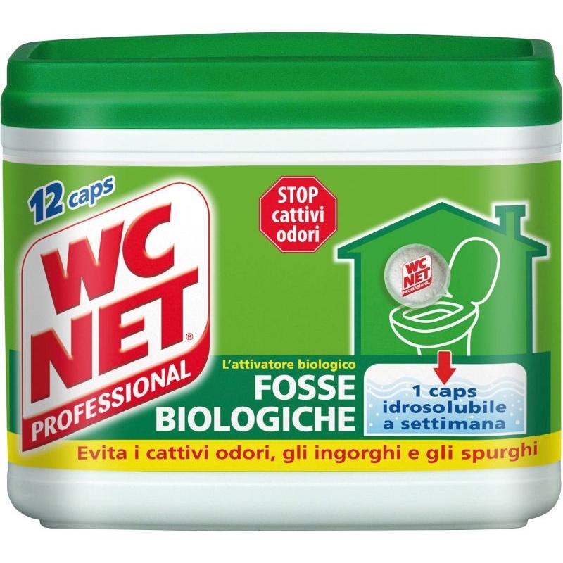 WC Net capsule hidrosolubile septice pentru fose biologice 12buc - 216 g